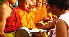 Alms to the monks Thumbnail Picture